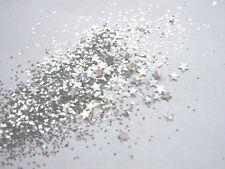 3g POT NSI ULTRA FIN PRE-MIXED LITTER ACRYLIC POWDER-SILVER- STARS  nail art mix