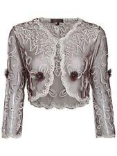 Maglie e camicie da donna a manica lunga in pizzo taglia L