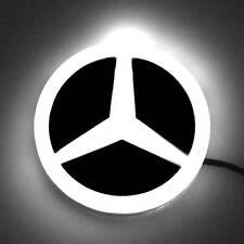 "87mm 3.4"" LED 4D White Light Neon Decorative Logo Badge Emblem Mercedes Benz"