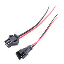 100 Pair JST SM 2Pin 2P Female Male Plug Connector Wire Cable For LED Strip 21cm