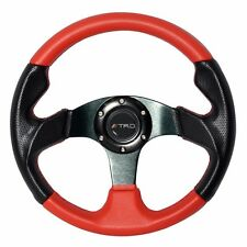 320mm Red PVC Leather Black Carbon Look 6-Bolt Hole Steering Wheel With TRD