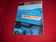 BROCHURE  PUBLICITAIRE  TRACTEUR  FORD  2000 SUPER