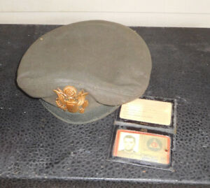 Vintage U.S. Military Officer Service Cap, Flight Ace. 7 1/4. WITH ID