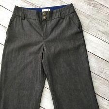 Elevenses Women's Pants Size 10 Grey Wide Leg Career Lined Dress Pants