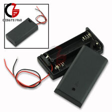 2 AA 2A Battery Holder Box Case with ON/OFF Switch Cover for 2AA battery