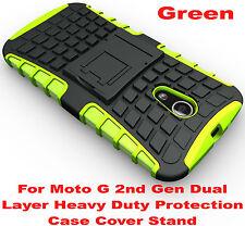 Green Heavy Duty Tradesman Strong Case Cover For Motorola Moto G 2nd Gen 2014