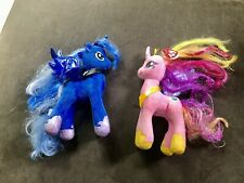 2 Ty My Little sparkle ponies Blue And Pink