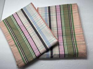 Ralph Lauren Pillow Shams Set of 2 24 x 32 Queen Pink Green Madras Plaid New