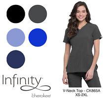 Infinity by Cherokee Women's Ck865A V-Neck Scrub Top -New-Free Ship