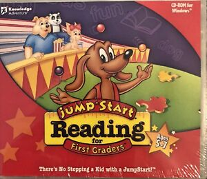 JumpStart Reading for First Graders Pc New Win10 8 7 XP Vowels Build Sentences