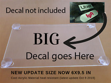 Uber2 Lyft2 Acrylic plain sign include 4 suction cups removable sign