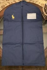 100% Authentic Ralph Lauren Garment Bag Big Pony Navy Blue With Card Brand New !