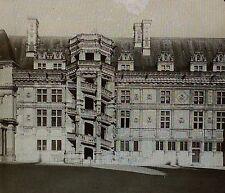 Chateau Courtyard,Blois,France,Wing of Francois I,Magic Lantern Glass Slide