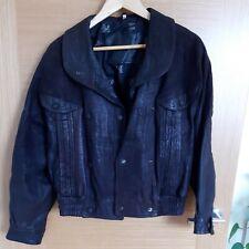 Ladies Genuine Leather Jacket, dark brown, M size, pops, pockets