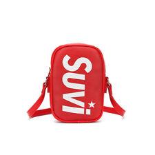 Borsa donna tracolla pochette rosso bianco nero elegante pelle sintetica 2483