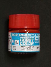 GUNZE SANGYO MR HOBBY AQUEOUS COLOR COLORE ACRILICO RED MADDER ROSSO 10ml  H86