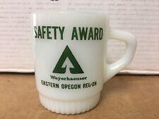Vintage Anchor Hocking Fire King Weyerhaeuser Oregon Logging Cup / Mug L@@K!!!