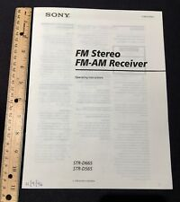 Sony STR-D665 & STR-D565 Stereo Receiver Original Owners Manual 18 Pages A8