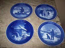 4 Royal Copenhagen Collectors Plates 1976-1979 Excellent Condition Denmak