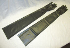 Latex Handschuhe lang, rauch grün, Gr. S