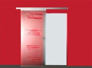 JOMOWO Glasschiebetür Design Vari inkl. Aluminiumbeschlag 2080 x 900mm
