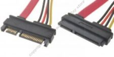 Lot10 1.5ft short SATA+POWER Extension Male~Female Cable/Cord/Wire {7pin+15pin