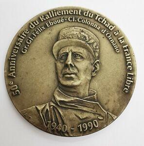 Médaille 50e Anniversaire Ralliement Du Tchad À La France. REF67114