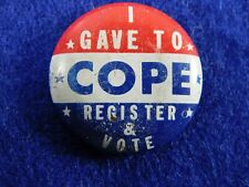 Vintage Original Committee on Political Education 1948 Campaign Pin Button