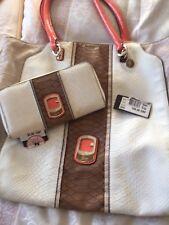 Ladies Guess Handbag  And Matching Purse