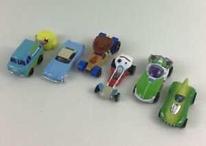 Hot Wheels Toy Story Diecast 6pc Lot Forky Woody Buzz Lightyear Rex Rider Bo