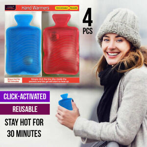 4Pcs Hand Warmer Click activated Water Bottles Style Pocket Reusable AU STOCK