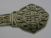 ENGLISH SOLID STERLING SILVER LINDISFARNE PATTERN CELTIC JAM SPOON 1966