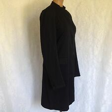 DKNY Donna Karan New York Black Cotton Blend Button Front Trench Coat  Size 4