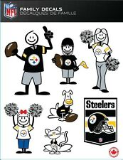 NFL PITTSBURGH STEELERS STICK PEOPLE FAMILY DECALS ~ FULL COLOR VINYL DECALS