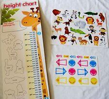 Per bambini Giungla Safari Animale Zoo altezza Grafico & ADESIVI A9001