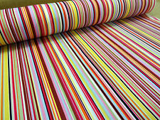 100% COTTON  FABRIC +++ MULTI STRIPE + COLOUR 2