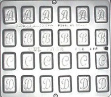 "Alphabet A B C D 1 1/4"" Chocolate Candy Mold  7005 NEW"