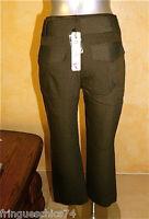 pantalon pantacourt hiver chocolat LILIANE H taille 40 NEUF ÉTIQUETTE val. 125€