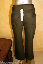 pantalon pantacourt hiver chocolat LILIANE H taille 42 NEUF ÉTIQUETTE val. 125€