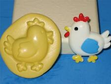 Chicken 2D Push Mold Food Safe Silicone Cake Pop Topper A187 Fondant  Resin Baby