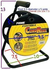EXTENSION CORD REEL - STEEL FRAME, POLY REEL - LIGHTS, ROPE, DJ, IT - SHIPS FREE
