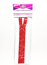 Allary Style #4862 Skirt & Pants Zippers, 7 Inch, Red