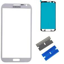 Samsung Galaxy Note 2 Front Glass Screen Outer lens Replacement Repair White