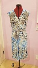 NWOT Glamour Dress-Lovely Faux Wrap blue pastel Career/Day Dress - Standout!