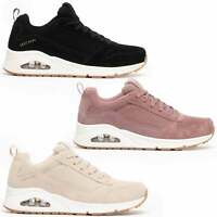 Skechers UNO Ladies Womens Genuine Suede Cooling Memory Foam Lace Up Trainers