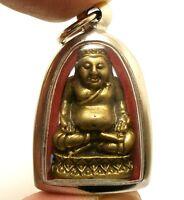 HAPPY BUDDHA SANGKAJAI PENDANT HOTEI BUDAI REAL MAGIC THAI AMULET RICH LUCKY WIN