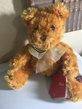 Bear Brioche STUFFED ANIMAL PLUSH TOY WITH Tags made in Italy Very Rare