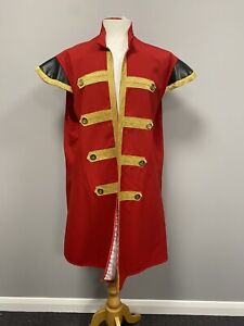 Red Medieval Style Military Jacket Large - Fancy Dress Costume Uniform Cosplay