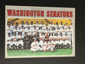 F59485  1970 Topps #676 Washington Senators TC