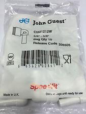 "John Guest CI 221212W 3/8"" stem OD - 3/8"" tube OD stem elbow (bags of 10)"